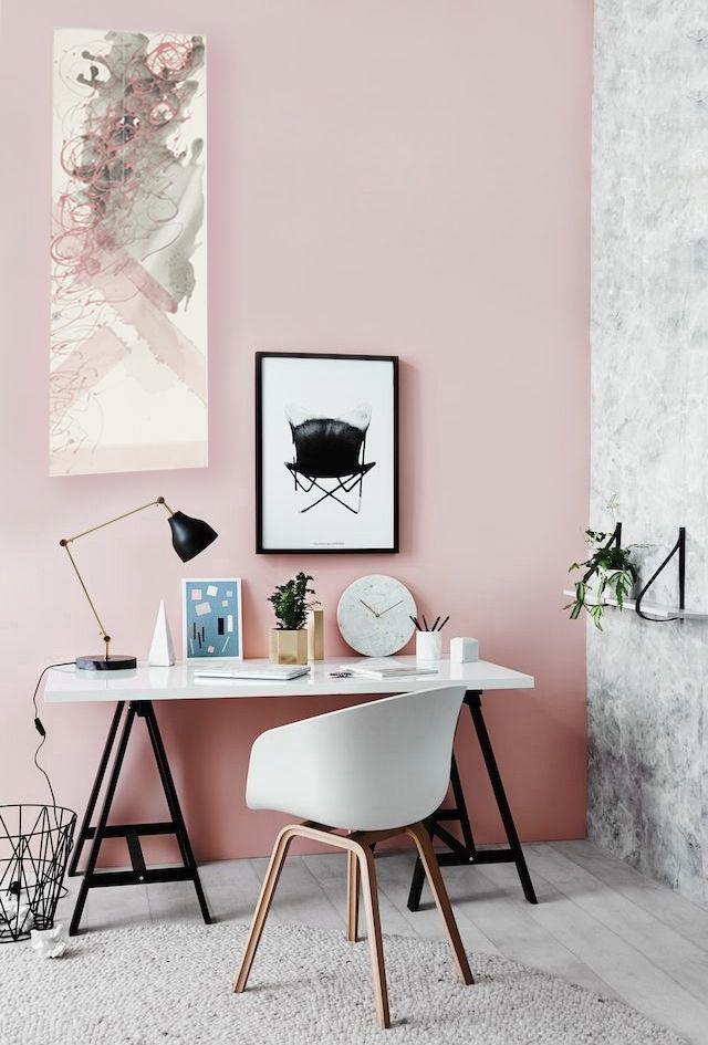 gotowe różowe wnętrze + różowy obraz