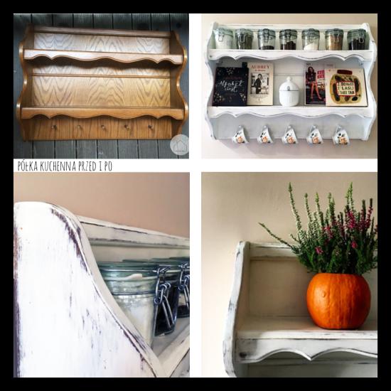półka kucenna przed i po