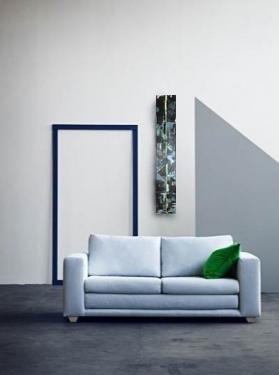 obraz niebiesko limonkowy we wnętrzu