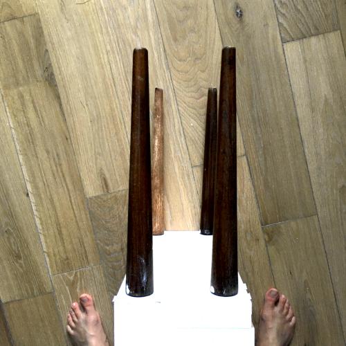 nogi toczone prl
